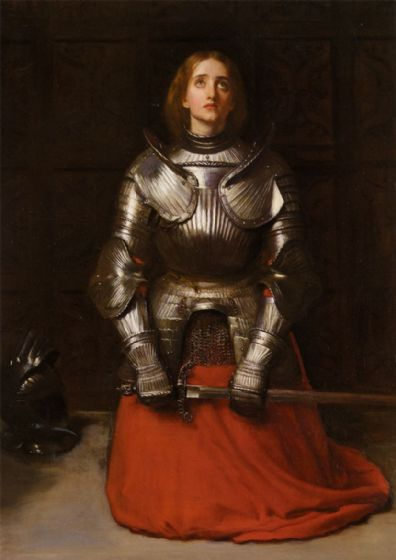 Millais, John Everett: Joan of Arc, 1865 (The Maid of Orleans) French Heroine/Roman Catholic Saint. Fine Art Print/Poster. Sizes A4/A3/A2/A1 (001237)